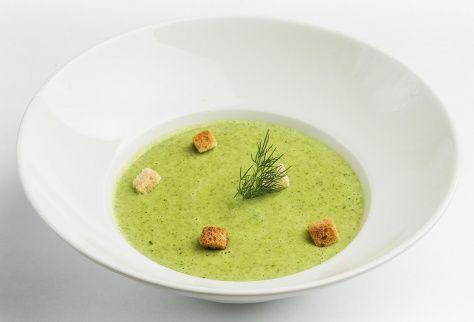 Крем-суп со шпинатом и брокколи