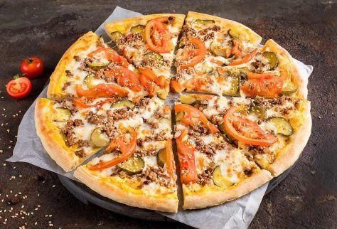 Пицца Чизбургер на традиционном тесте